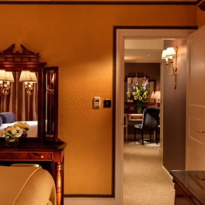 The Goring Hotel Bedroom Silk Wall Interior Photography London