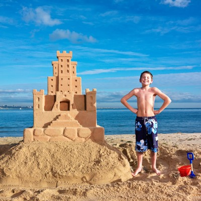 Beach Sandcastle Advertising Photography