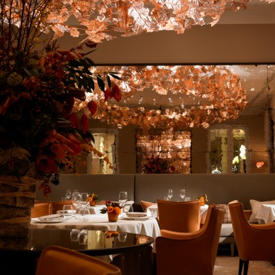 Coworth Park restaurant dining interior Photography UK