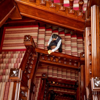 The Connaught Hotel Stairwell