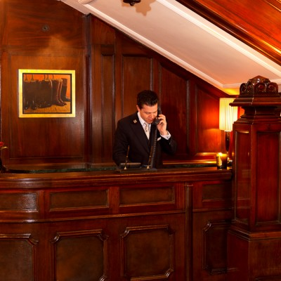 The Connaught hotel Concierge desk Photography London