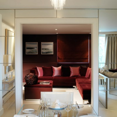 Luxury apartment Dining Interior for Fox Linton by Martin Hulbert, Worldwide