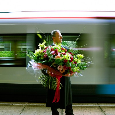 Man with Flowers Campaign