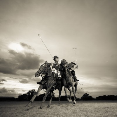 Equestrian Polo Horse charge Sports advertising photography London