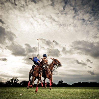 Charging Polo horses Sports advertising Photography London