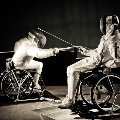 Paralympic Wheelchair Fencing Sports Photography London