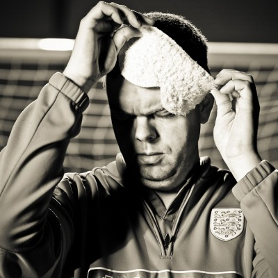 David Clarke Blind Football Photography