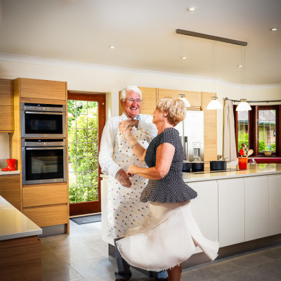 Winchester Kitchens Dancing brand advertising Photography London