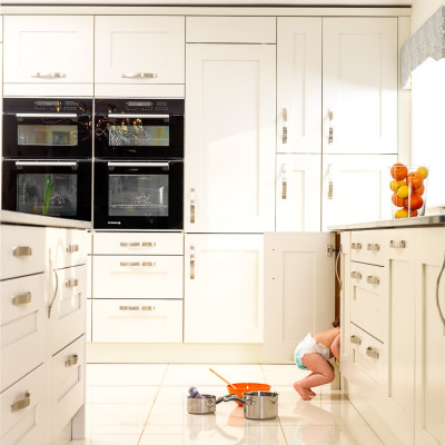 Winchester Kitchens Baby cupboard advertising photography London