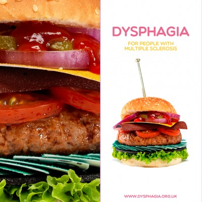 Burger Dysphagia awareness pharmaceutical campaign still life food photography