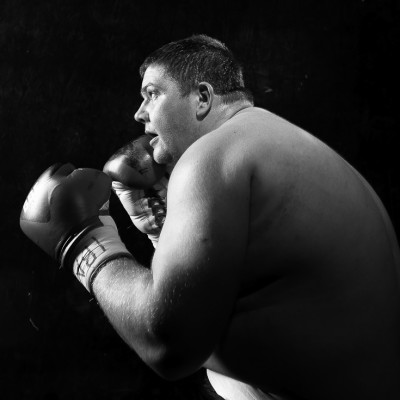 Heavyweight Boxing sports advertising portrait