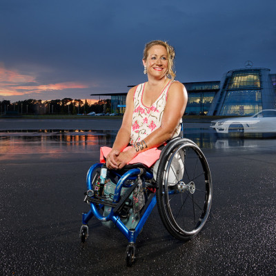 Rachel Morris Paralympic Champion Handcycling Portrait Photography London