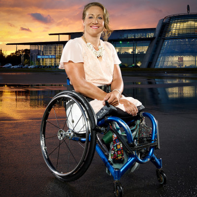 Rachel Morris Handcycling Rowing Paralympic Champion Portrait Photography London