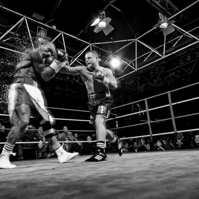 Boxing Shattering Punch CGI Sports advertising photography