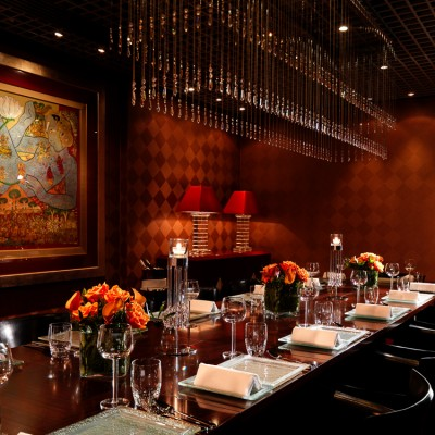 Amaya restaurant Private dining interior Photography London