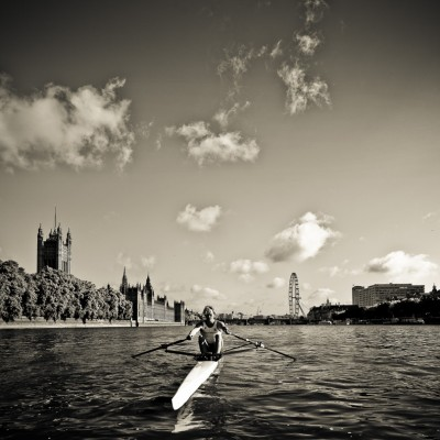 Josh Butler Rowing Thames London Sports Photography