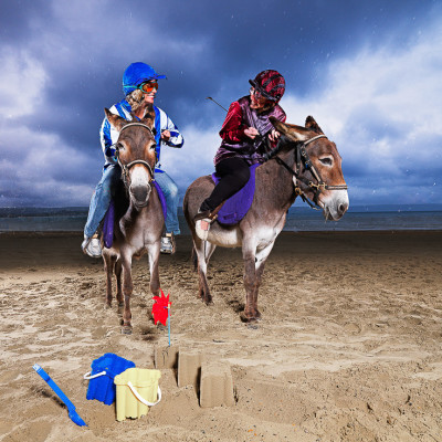 Donkey Race on Beach Campaign Photography