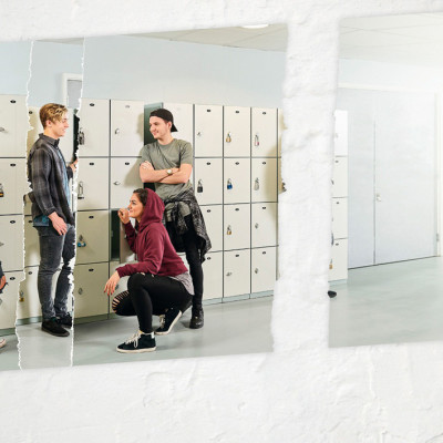 Teenagers socialising Pharmaceutical Advertising Campaign