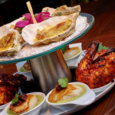 Amaya Indian restaurant seafood food still life Photography London