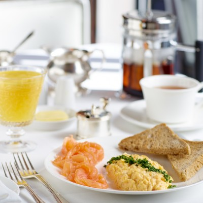 Veeraswamy Scrambled eggs and Salmon Food photography London